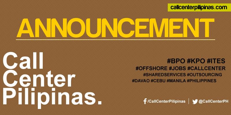 call center pilipinas announcement